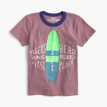 Boys' surfboard ringer T-shirt