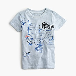 Boys' garment-dyed graphic T-shirt