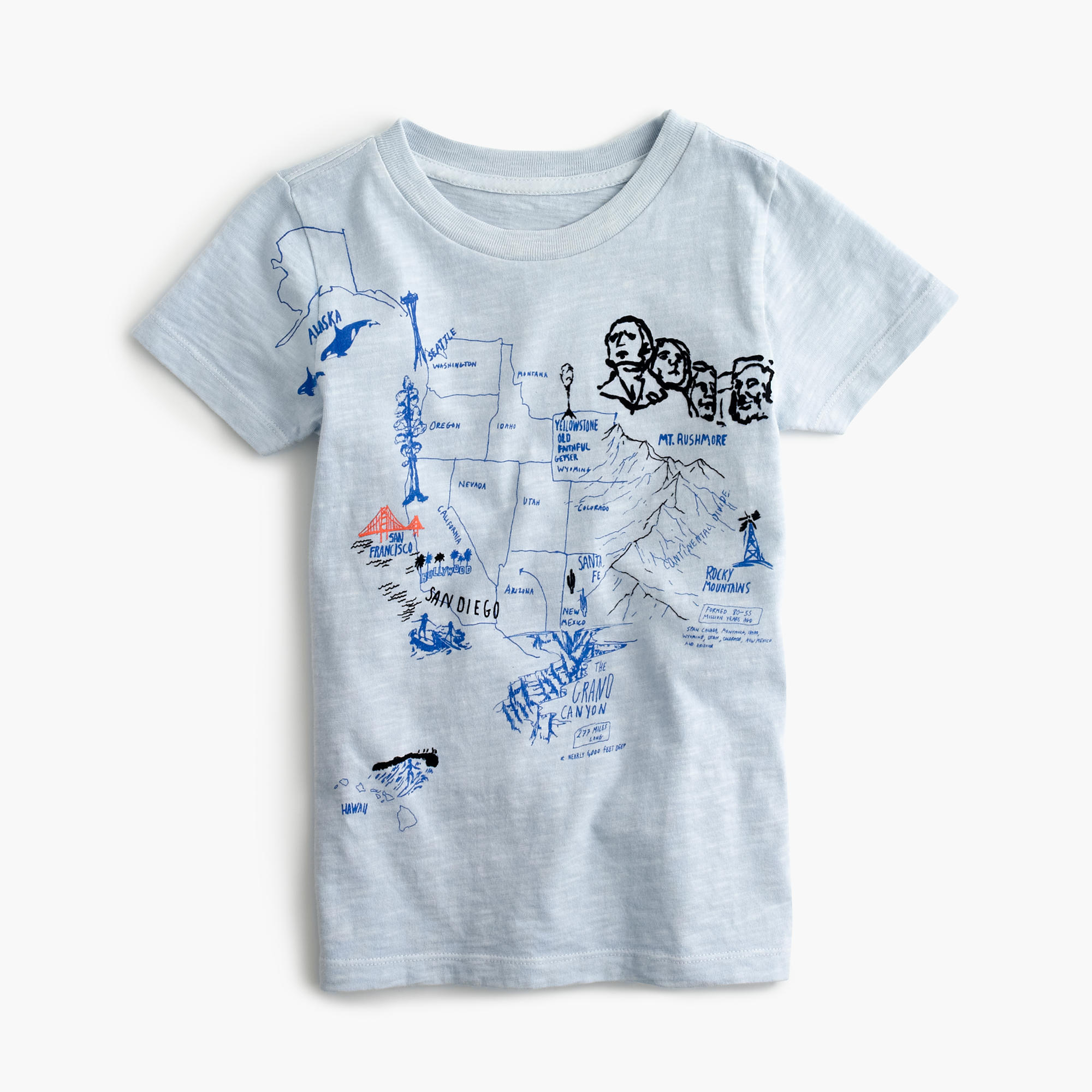 Boys 39 Garment Dyed Graphic T Shirt J Crew