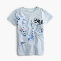 Boys' garment-dyed graphic T-shirt