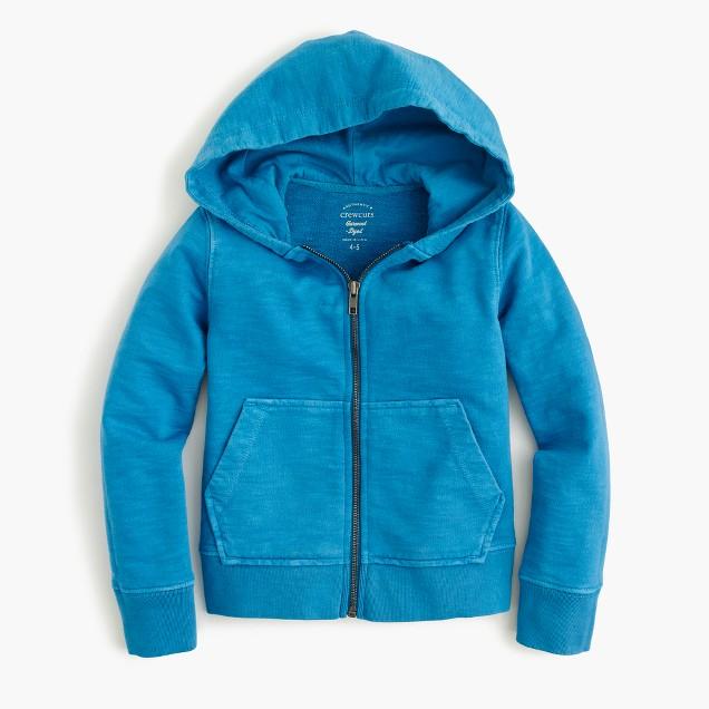 Boys' garment-dyed hoodie