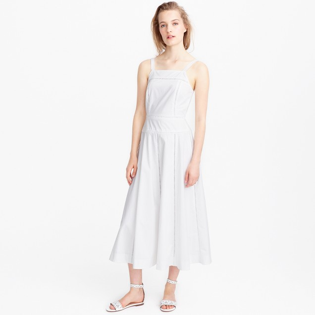 Collection poplin pinafore dress