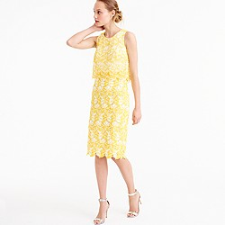Collection tiered dress in warm sun Austrian lace
