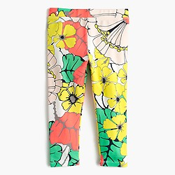 Girls' cropped everyday leggings in punchy hibiscus