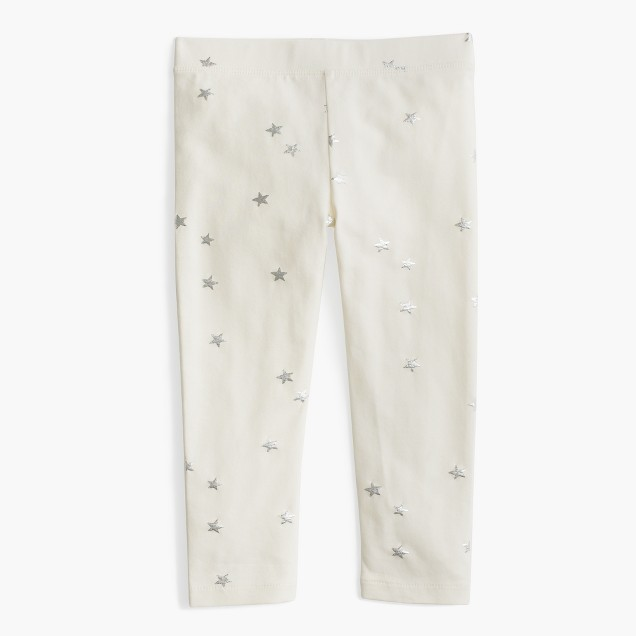 Girls' cropped everyday legging in metallic stars