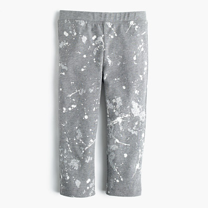 Girls' cropped everyday leggings in splatter paint