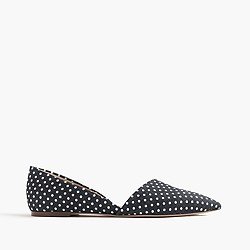 Sloan d'Orsay flats in polka-dot denim