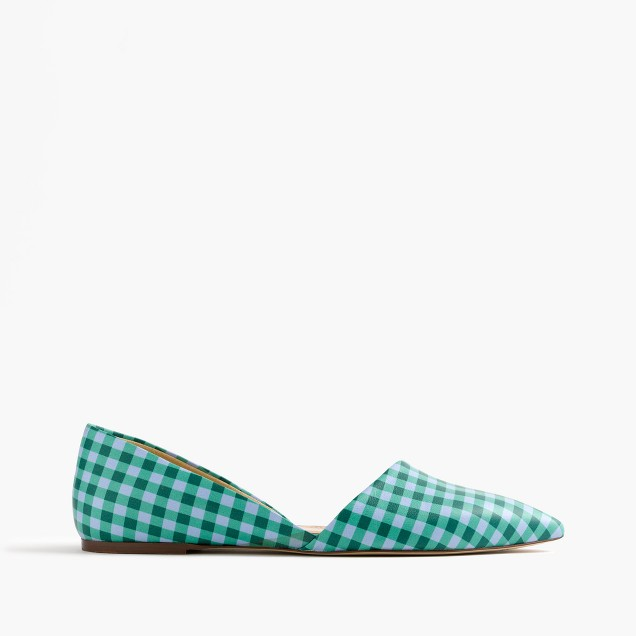 Sloan gingham leather d'Orsay flats