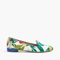 Loafers with glitter heel in Ratti® Into the Wild print