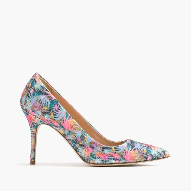 Elsie pumps in glitter palm