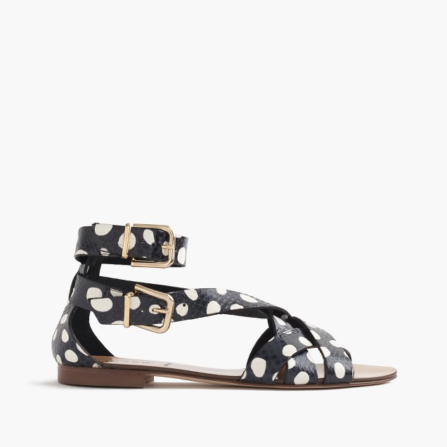 Collection snakeskin multistrap sandals