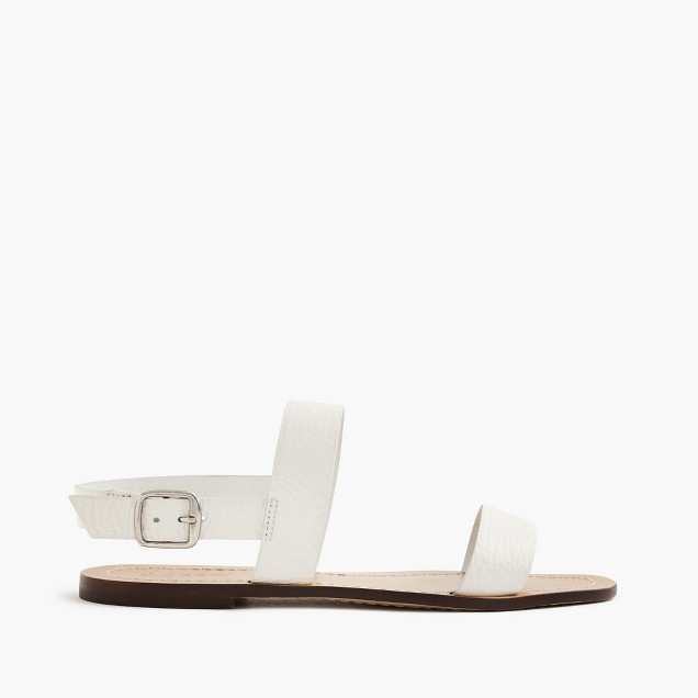 Jules tumbled leather sandals