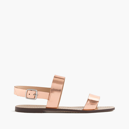 Jules metallic leather sandals