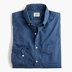 Slim Secret Wash shirt in blue polka dot