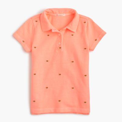 Girls' critter polo shirt
