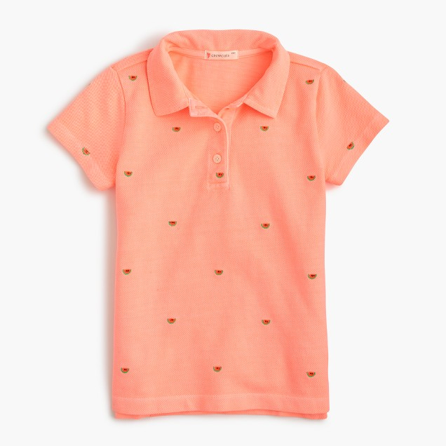 Girls' critter polo shirt