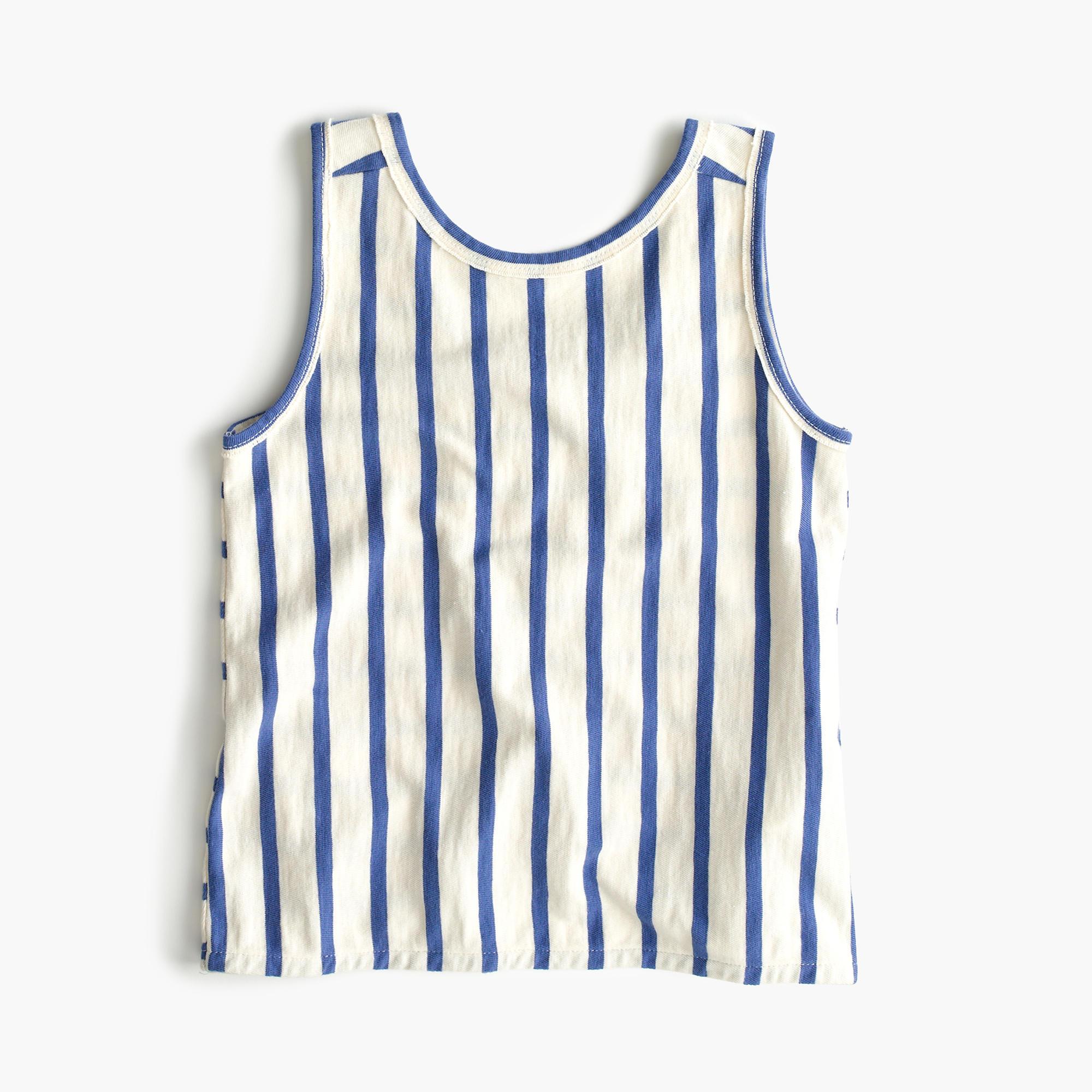 Girls' cross-back striped tank top : | J.Crew