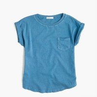 Girls' garment-dyed T-shirt