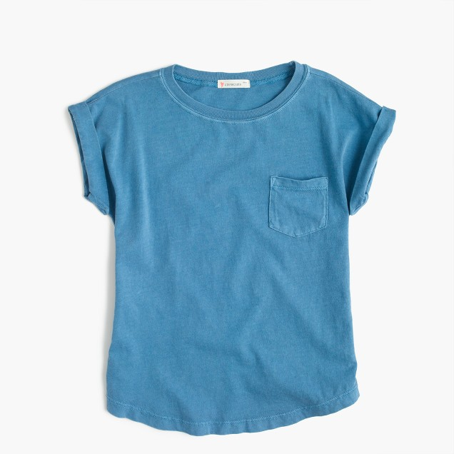 Girls' garment-dyed T-shirt