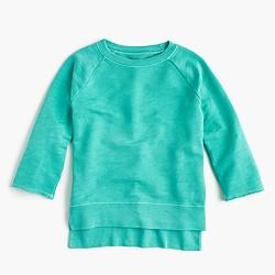 Girls' garment-dyed sweatshirt