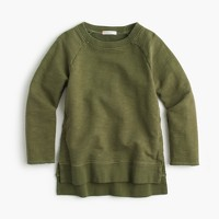 Girls' garment-dyed sweatshirt