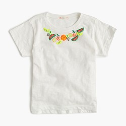 Girls' fruit necklace T-shirt