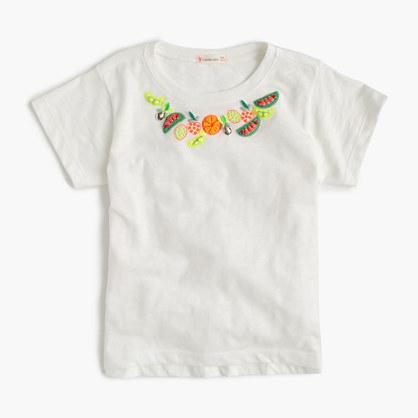 Girls' fruit necklace T-shirt