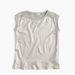 Girls' shimmer jersey tank top