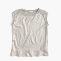 Girls' shimmer jersey tank top