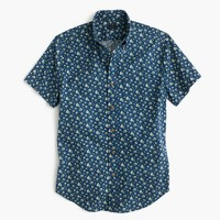 Short-sleeve shirt in navy floral