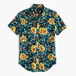 Short-sleeve shirt in blue floral