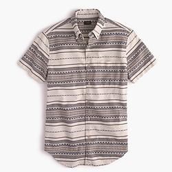 Short-sleeve jacquard shirt