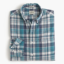 Slim Indian madras shirt in blue haze