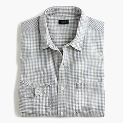 Slub cotton shirt in check