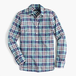 Classic popover shirt in vintage plaid