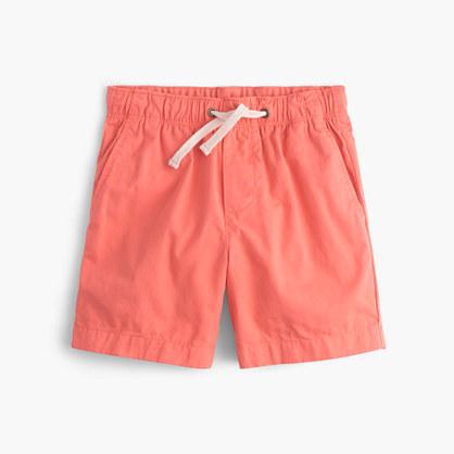 Boys' dock short in garment-dyed chino