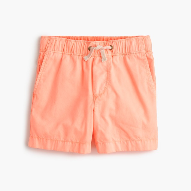 Boys' dock short in garment-dyed chino