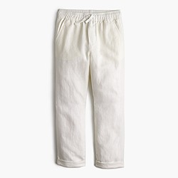 Boys' pull-on pant in linen