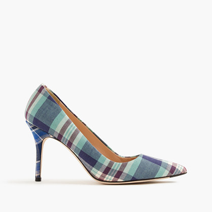 Elsie pumps in mixed plaid