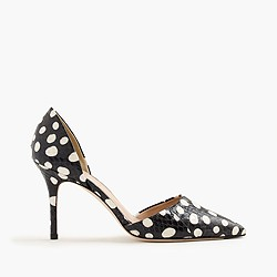 Collection Elsie dotted snakeskin d'Orsay pumps