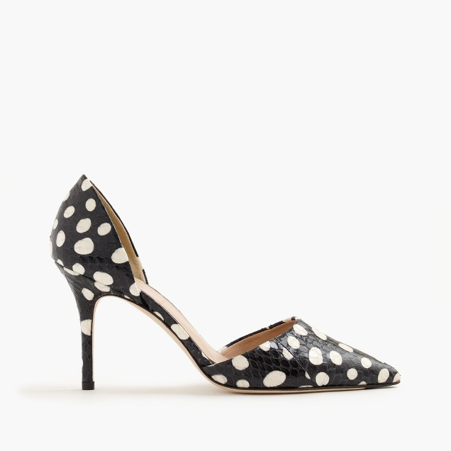 Collection Elsie dotted snakeskin d'Orsay pumps