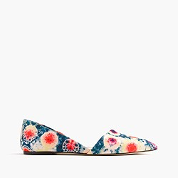 Sloan d'Orsay flats in tie-dye canvas