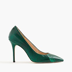 Collection Roxie snakeskin pumps