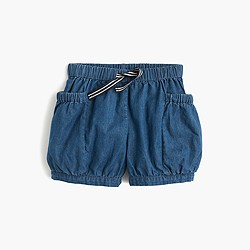Girls' chambray bloomer short