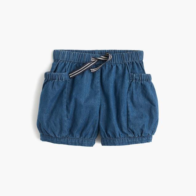Girls' chambray bloomer short