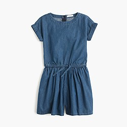 Girls' chambray romper
