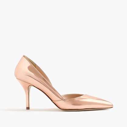 Colette metallic rose gold d'Orsay pumps