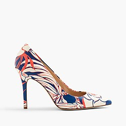 Roxie pumps in retro floral