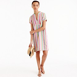 Petite candy-stripe dress