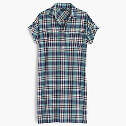 Shirtdress in vintage plaid